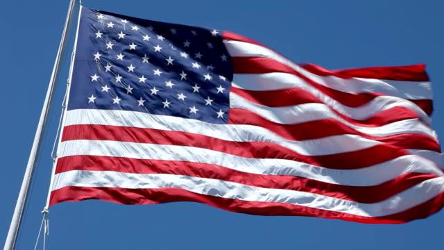 Bandeira americana balançando ao vento, HD 1080 p - vídeo