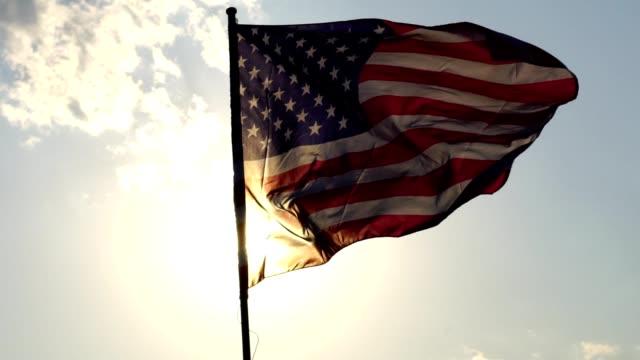 vídeos y material grabado en eventos de stock de bandera americana ondeando - american flag