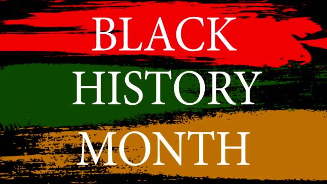 yeşil arka planda siyah tarih ayı olan amerikan el ilanı. amerikan bayrağı arka planı. kara tarih ayı. şubat ayı. kırmızı arka plan. 4k - black history month stok videoları ve detay görüntü çekimi