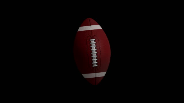 American football animation with black screen video