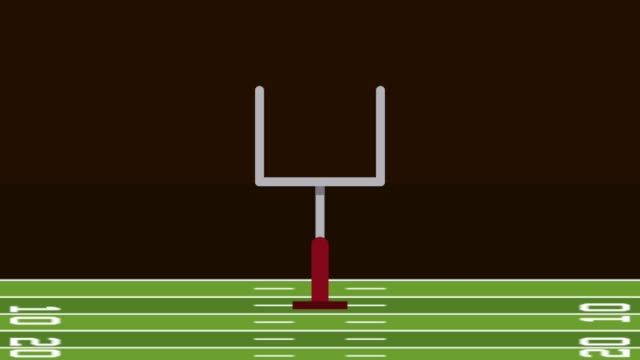 american football field camp animation video