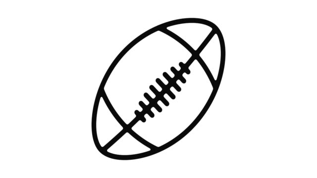 American Football Line Motion Graphic American football line icon motion graphic animation with alpha channel. touchdown stock videos & royalty-free footage