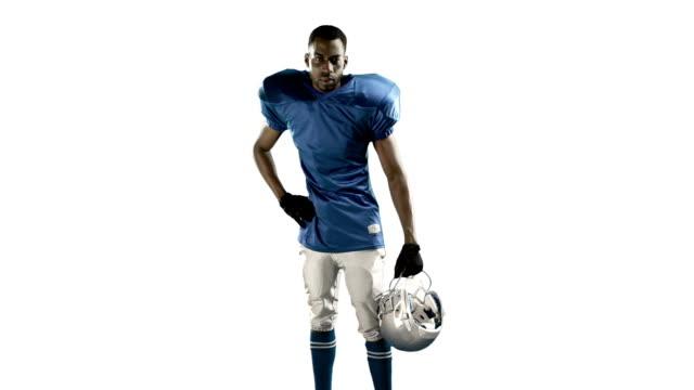 american football player - trykot filmów i materiałów b-roll