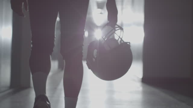 American Football Silhouette in Sports Stadium American Football Silhouette in Sports Stadium football stock videos & royalty-free footage