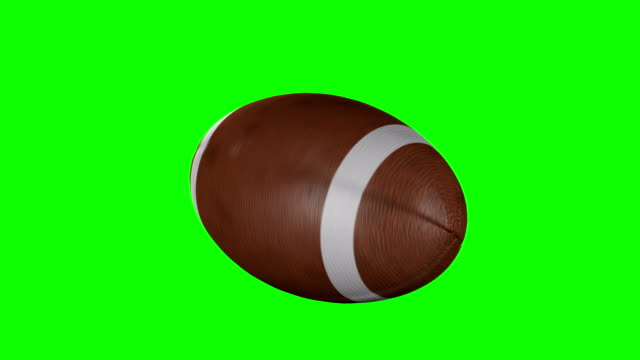American Football Spinning on green screen video