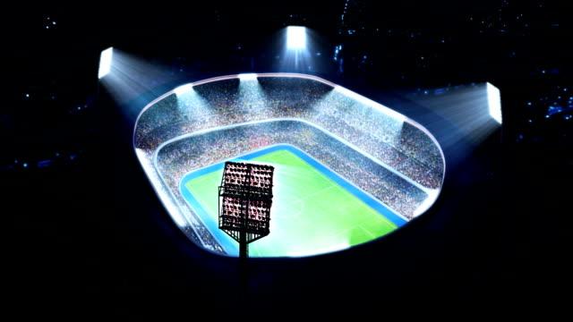 stockvideo's en b-roll-footage met american football stadium. - sportcompetitie