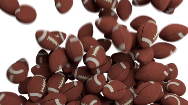 American footballs fill screen transition composite overlay 4K video