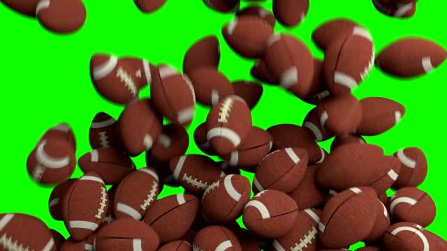 American footballs fill screen transition composite overlay video