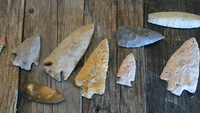 American Indian Arrowheads. video