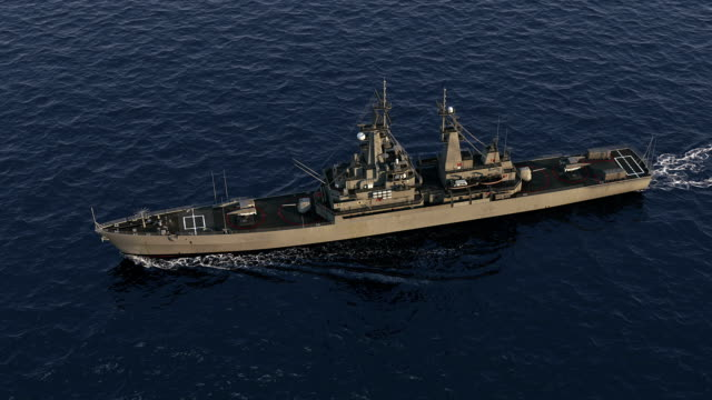 American Modern Warship In The High Seas video
