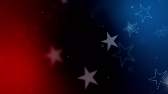 american USA flag close-up, stars and stripes, united states of america on blue and red color