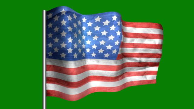 american vintage flag - looping, waving - fourth of july filmów i materiałów b-roll