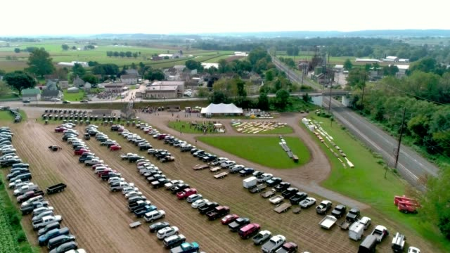Amish Mud Sale and Auction as Seen by Drone video