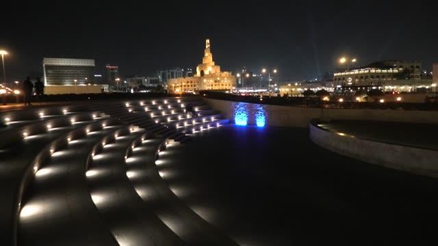 amphitheater doha night - souk video stock e b–roll
