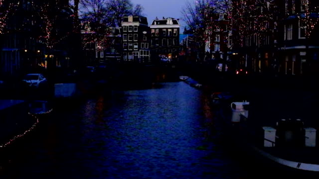 Amsterdam at christmas time in the Netherlands video