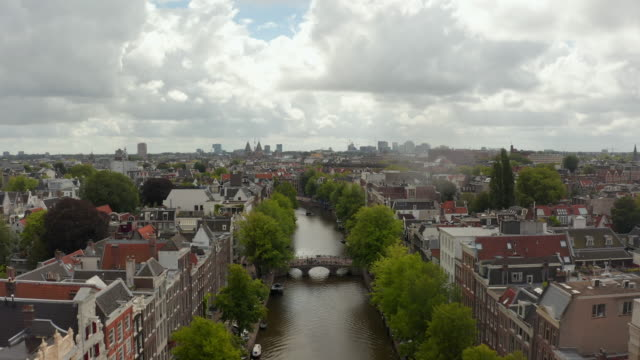 Amsterdam Canal Bridge with a Group of Tourists wearing Masks, Cityscape Crane Aerial Amsterdam Canal Bridge with a Group of Tourists wearing Masks, Cityscape Crane Aerial 4K amsterdam stock videos & royalty-free footage