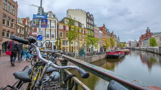 Amsterdam Kanalstadt Wahrzeichen und historischen – Video