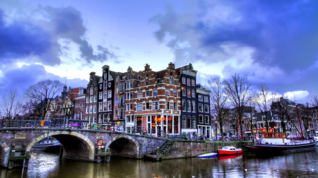 Amsterdam canal timelapse video