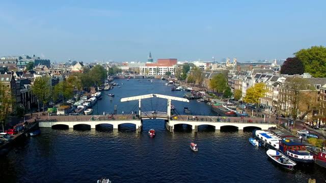 Amsterdamer Kanal, Ansicht von oben – Video