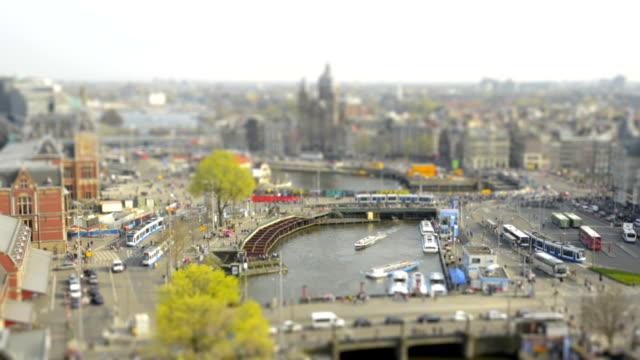 Amsterdam Central Station tilt shift time lapse video