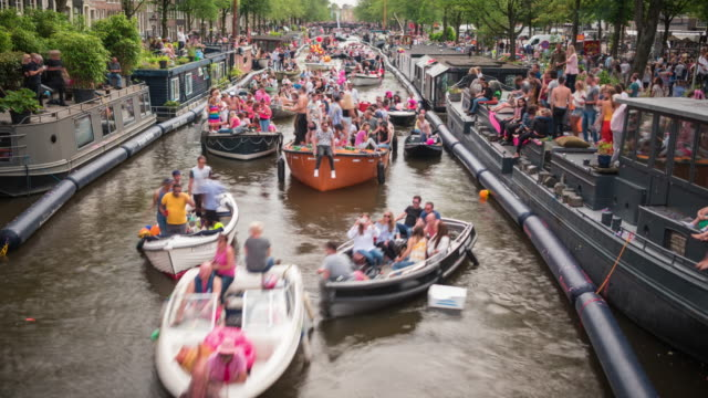 4K: Amsterdam Gay Pride time lapse video