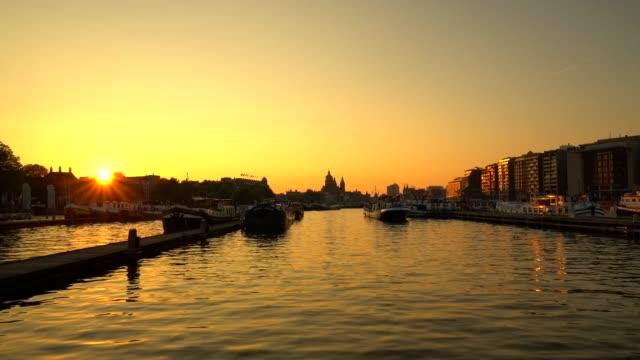 Amsterdam Skyline at sunset video