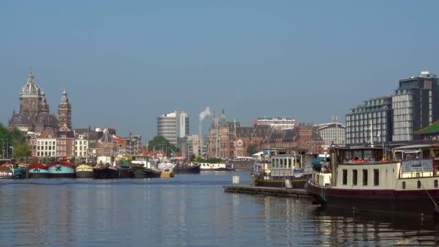 Amsterdam Skyline, Realtime Amsterdam Skyline, Realtime wasser videos stock videos & royalty-free footage