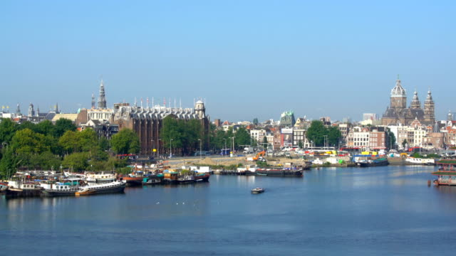 Amsterdam Skyline, Time Lapse Amsterdam Skyline, Time Lapse wasser videos stock videos & royalty-free footage