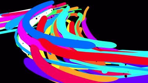 vídeos y material grabado en eventos de stock de un fondo abstracto hecho por líneas. - curva forma