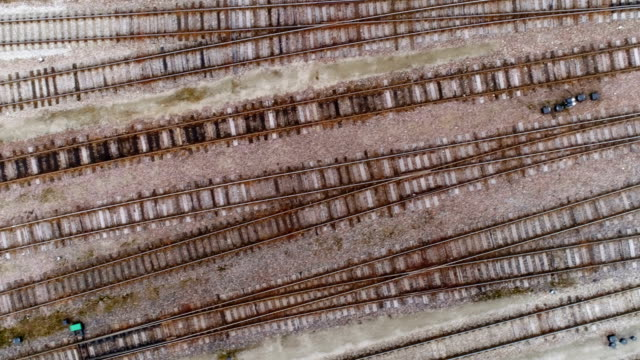 An aerial shot of the old train tracks in Estonia video