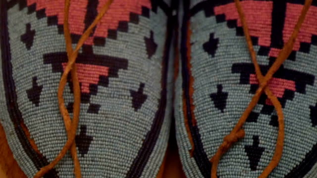 An American Indian clothing with colorful lines video