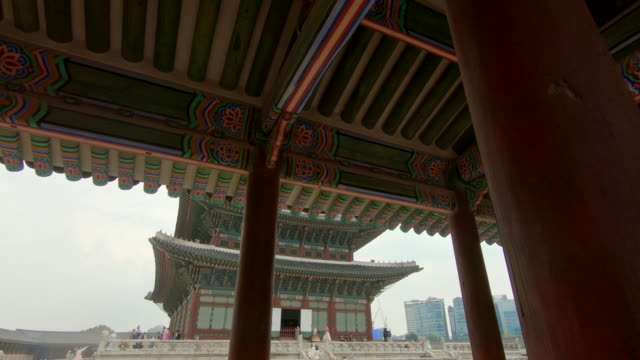 an ancient palace in Seoul, South Korea. Travel to Korea concept. Slowmotion shot