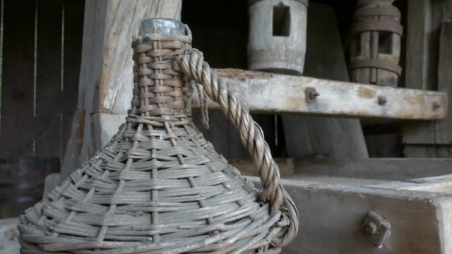 An ancient wooden Wine press. video