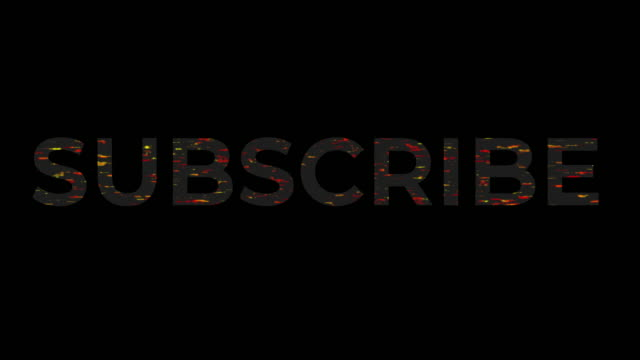 An Animation of A Title With a Subscribe Sign