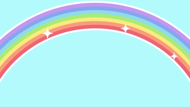 An animation with a sparkling rainbow This is a movie of an animation with a sparkling rainbow rainbow stock videos & royalty-free footage