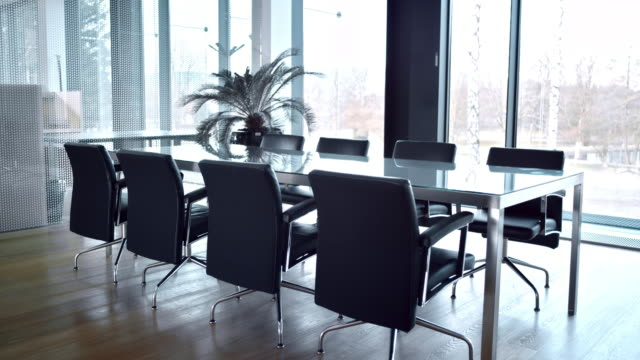 DS of an empty meeting room video