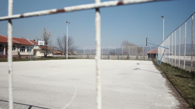 an empty playground, school backyard - stock video