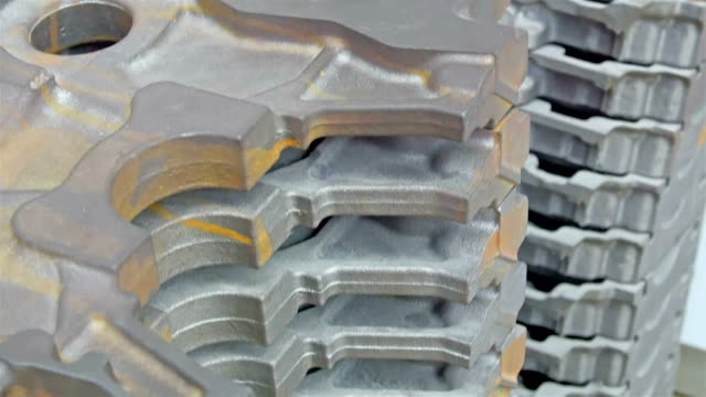 An engine block for machinery in car industry video