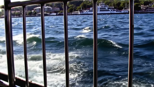 An evening ferry ride in the Bosphorus video