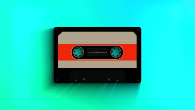 an old retro music tape - cassetta video stock e b–roll