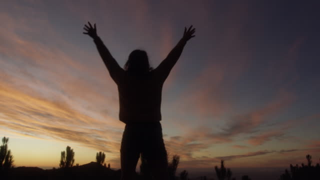 vídeos de stock e filmes b-roll de an open heart lets the light in - mulher deixar ir