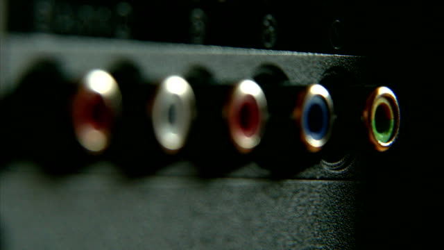 Analog Audio-Video RCA Connectors on Back Side of TV Set video
