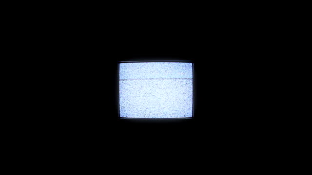 Analog square tv with white noise.