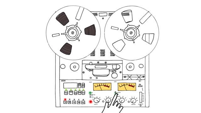 registratore analogico - mangianastri video stock e b–roll
