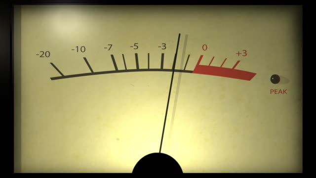 Analog VU meter start and stop. video