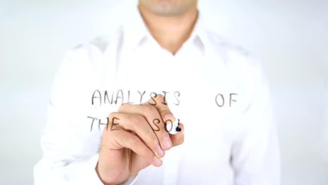 Analysis of the Solutions, Man Writing on Glass video