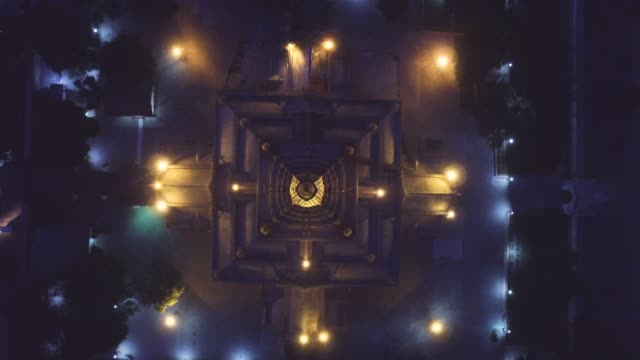 Ananda temple at night one of the ancient temple in Bagan aerial view before earthquake, Myanmar Ananda temple at night one of the ancient temple in Bagan aerial view before earthquake, Myanmar bagan stock videos & royalty-free footage