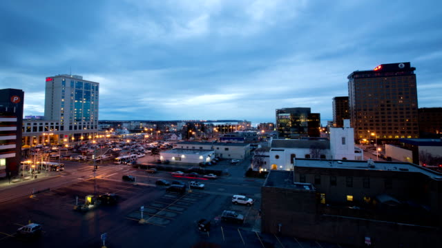 Anchorage Alaska Day to Night Timelapse
