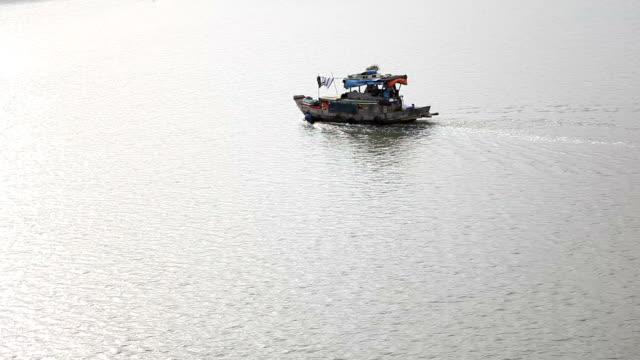 Anchored Boat in Saigon River