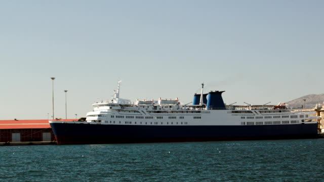 Anchored cruise ship video